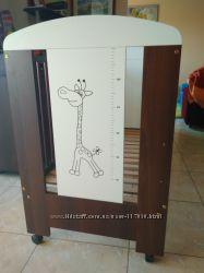 Кроватка детская Жираф с матрасом.