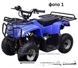 Квадроцикл бензиновый. HL-A420 110CC ATV синий, черный