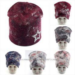 Трикотажные шапки детские большой выбор