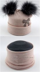 Ангоровые шапки детские 50-56 размер с хомутами