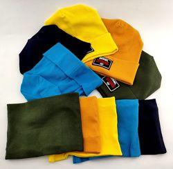 Детская шапка трикотажная двойная 48-50 50-52 52-54 54-56 размер дэми