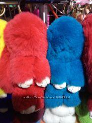 Хутряні брелки та сумки кролики