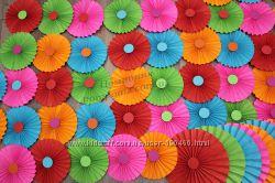 Бумажные гармошки - праздничный декор