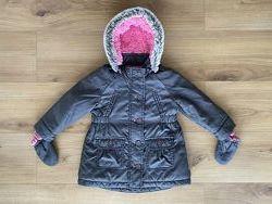 Куртка Next парка плащ и рукавички 2-3 года 92-98 см
