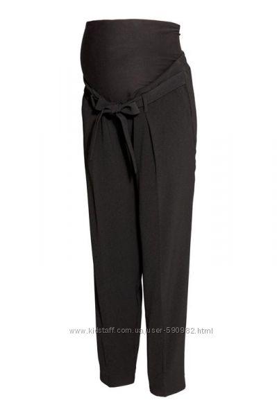 Креп брюки для беременных h&m p. xl зауженные