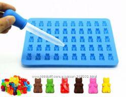 Силиконовая форма для мармелада, конфет мишки