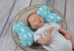 Ортопедическая подушка для новорожденных Butterfly 9 расцв.