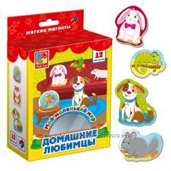 Магниты для игры на холодильнике и магнитном планшете Vladi Toys 15 видов