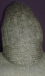 Классическая шерстяная шапка с подворотом, объёмная вязка резинка