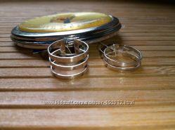 Кольца серебряные на фалангу