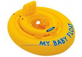 Надувной плавательный круг плотик Intex интекс для малышей