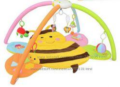 Детский развивающий коврик с дугами Пчелка в коробке