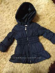 Пуховик Chicco, курточка зимняя для девочки 12мес.