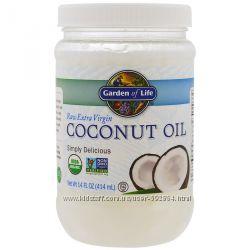 Garden of Life, кокосовое масло первого отжима, нерафинированное 414 мл