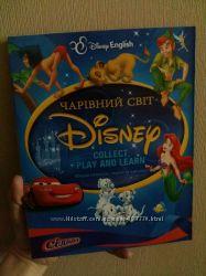 Комплект английский Чарівний світ Disney English альбом с карточками  CD