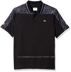 Lacoste Men&acutes Novak Short Sleeve Ultra Dry Net Yoke Print Polo, L