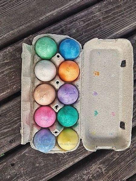 Мелки волшебные яички 10 шт в лотке