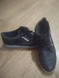 Шкіряні туфлі- кеди р 39