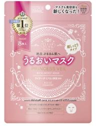 Набор японских масок для лица глубокое увлажнение и питание Kose Princess