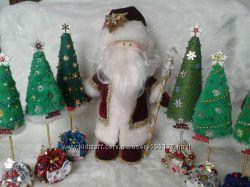 кукла интерьерная  ручной работы Дед Мороз