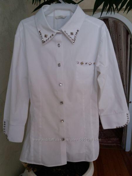школьная  блузка для девочки  девушки