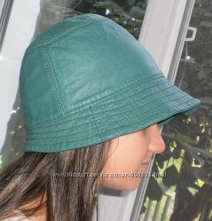 Кожаная шляпка цвета морской волны Craft Cymru