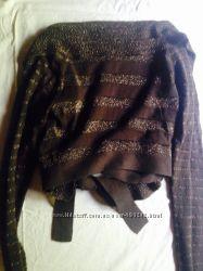Oggi knits коричневый золотистый болеро 170 80 обмен
