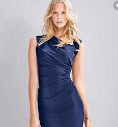 Victorias Secret асимметричное вечернее платье голубое миди S оригинал