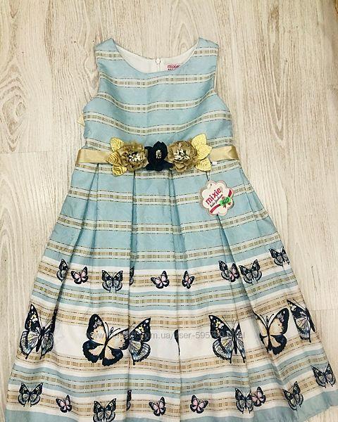 Нарядное платье с бабочками Mixie