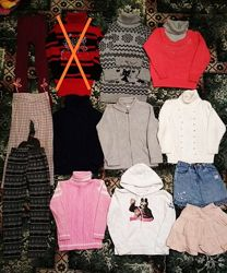 Пакет теплой одежды 5-7лет 13штук