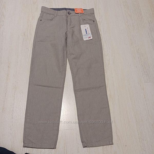 Новые льняные штаны на мальчика Lc Waikiki 128/134 р.