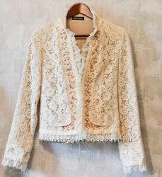 Нарядный женский кружевной пиджак M