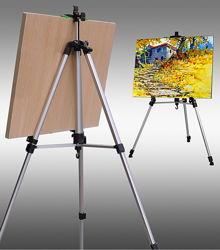 Подставка для картин, планшетов, led доски, мольберт тренога, качественая