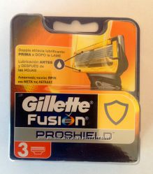 Оригинальные картриджи для бритья Gillette Fusion Proshield, 3 шт, из Итали