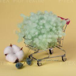 100 г. Холлофайбер Fior Textile, 15 dtex, зеленыйкоричневый