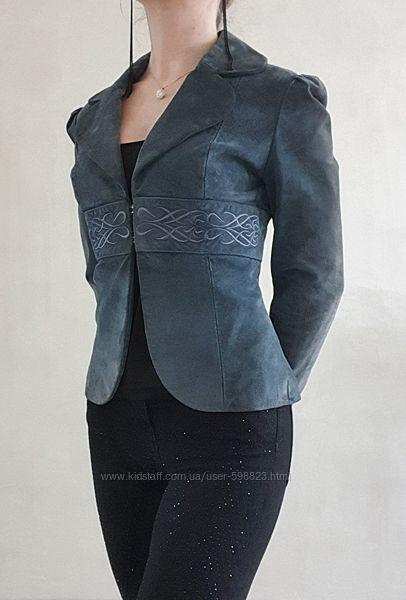 пиджак из натуральной замши