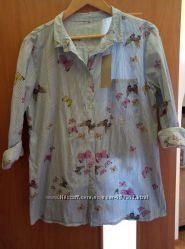Рубашка с бабочками M-ка