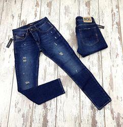 Стильные мужские джинсы Diesel, Lacoste, Baleciaga, ICON