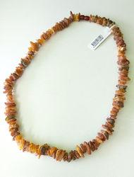 Красивые лечебные бусы, натуральный янтарь. 55 см
