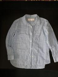 ZARA Фирменная рубашка состояние новой 122см 7 лет