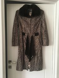 Кожаное пальто с норкой