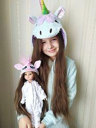 Модные кигуруми-костюмы-пижамы для кукол Паола Рейна