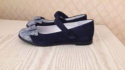 Красивые замшевые туфли для девочки ТМ Мальвы