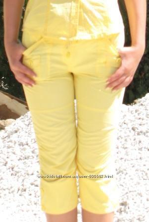 Летние бриджи жёлтые р. S