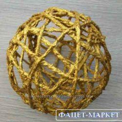 Изделия из джута плетёные ручной работы для декора