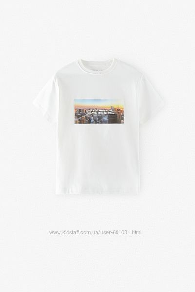 ZARA футболка унисекс с оживающей картинкой р.8 лет Оригинал