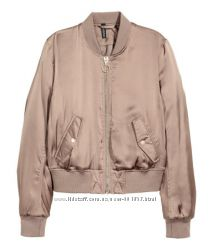 Короткая атласная куртка бомбер H&M. S. Новая.