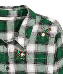 Стильные рубашки с декором. H&M. р. 34, 36.  Новая коллекция.