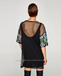 Платье с цветочной вышивкой ZARA. S. M. Новое.
