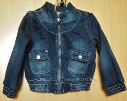 Стильная джинсовая куртка, бомбер Papagino рост 86-92, 1-2 г.